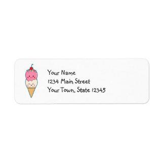 Cute Kawaii Ice Cream Label