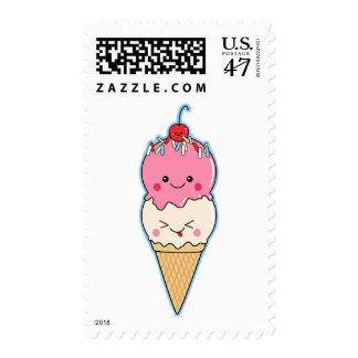Cute Kawaii Ice Cream Postage
