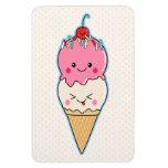 Cute Kawaii Ice Cream Rectangular Photo Magnet