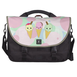 Cute Kawaii Ice Cream Waffle Cones Bags For Laptop