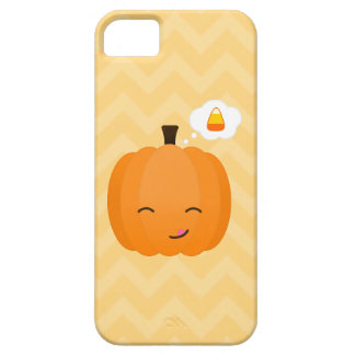 Cute Kawaii Jack o'Lantern and Candy Corn iPhone 5 Case