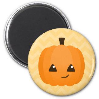 Cute Kawaii Jack o'Lantern 2 Inch Round Magnet