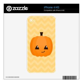 Cute Kawaii Jack o'Lantern Skins For iPhone 4S
