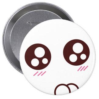 cute kawaii kitten emoji pinback button