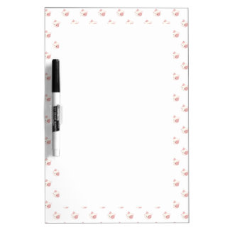 "Cute Kawaii Kitty Cat Face ""Polka Dot"" Pattern Dry-Erase Board"
