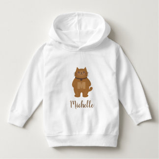 Cute Kawaii Kitty Cat Monogram Unisex Baby Hoodie
