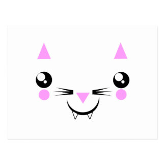 cute Kawaii Kitty face t-shirts & more Postcard