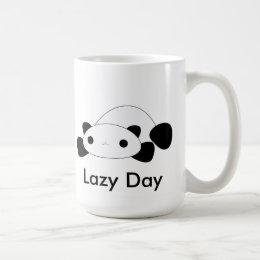 Cute kawaii lazy day panda mug
