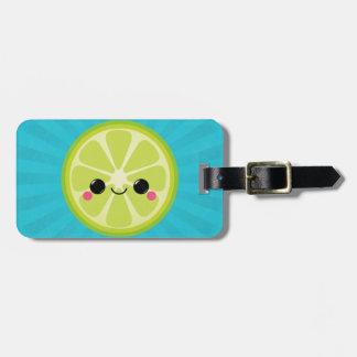 Cute Kawaii Lime Luggage Tag