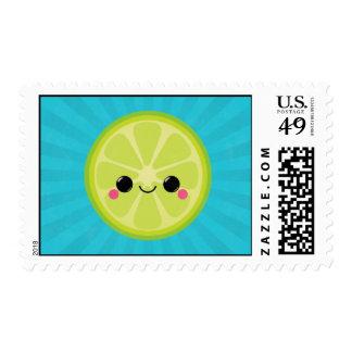 Cute Kawaii Lime Postage Stamps