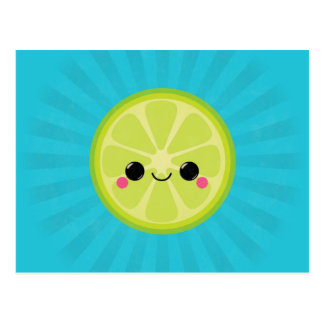 Cute Kawaii Lime Postcard