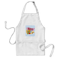 Cute Kawaii Lunch Bunch Adult Apron