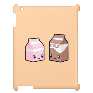 Cute Kawaii Milk & Chocolate Milk Carton iPad Case