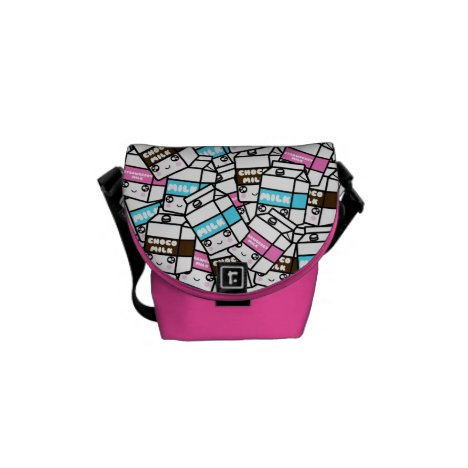 Cute Kawaii Milk Trio Sweet Milk Foodie Yummy mini Messenger Bag