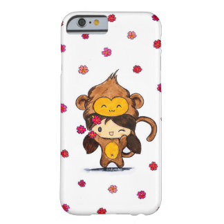 Cute Kawaii Monkey Girl Barely There iPhone 6 Case
