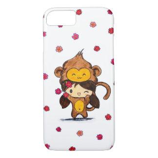 Cute Kawaii Monkey Girl iPhone 7 Case