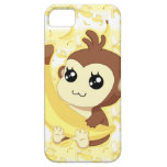 Cute Kawaii monkey holding banana iPhone 5 Covers