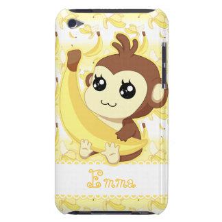 Cute Kawaii monkey holding banana iPod Touch Case-Mate Case
