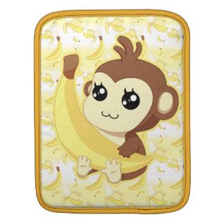 Cute Kawaii monkey holding banana Sleeve For iPads