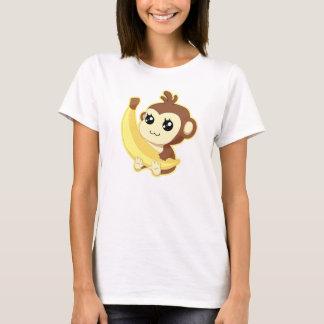 Cute Kawaii monkey holding banana T-Shirt
