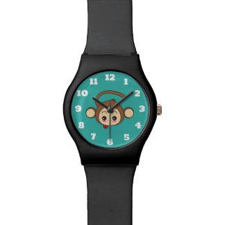 Cute Kawaii Monkey Illustration Wristwatch