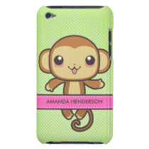 Cute Kawaii Monkey Personalized iPod Touch Case