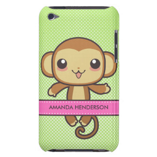 Cute Kawaii Monkey Personalized iPod Touch Case