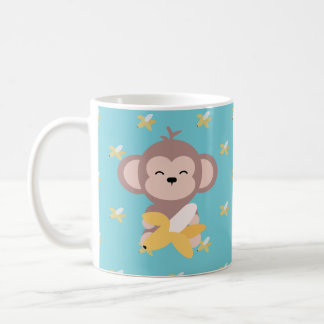 Cute Kawaii Monkey with Banana Mug
