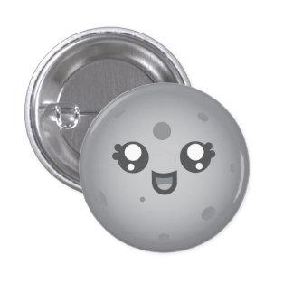 Cute Kawaii Moon Luna Character 1 Inch Round Button