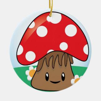 Cute Kawaii Mushroom Ceramic Ornament