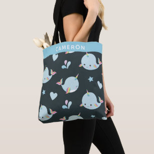 FREE SHIPPING Narwhal Tote Bag Personalized Narwhal Tote Bag Narwhal 100/% Cotton Canvas Narwhal Tote Bag Narwhal Gift Narwhal Tote