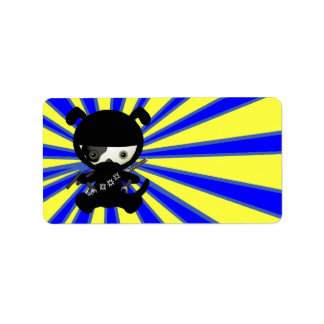 Cute Kawaii Ninja Puppy Dog Labels