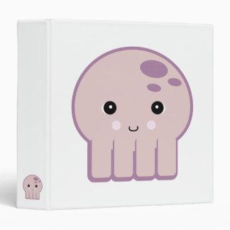 cute kawaii octopus 3 ring binder