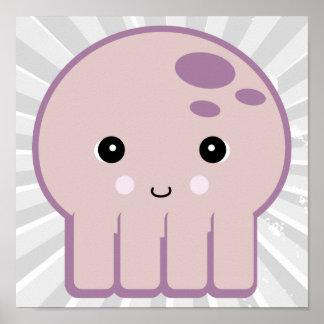 cute kawaii octopus poster