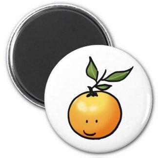 Cute kawaii orange 2 inch round magnet