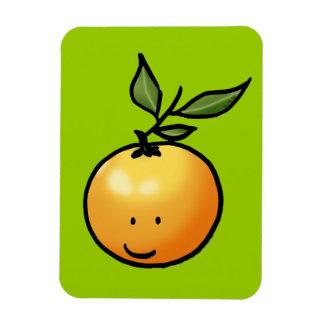 Cute kawaii orange rectangular photo magnet