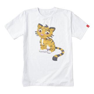 Cute Kawaii orange Tiger Zazzle HEART T-Shirt