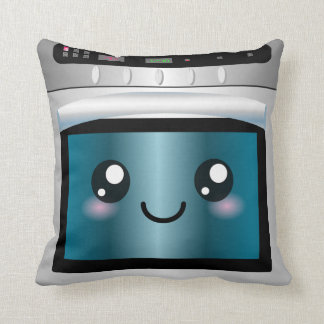 Cute Kawaii Oven - Chef & Baker Gifts Throw Pillow