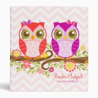 Cute Kawaii Owls - Custom Organizer Planner Binder