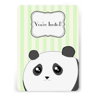 Cute Kawaii panda bear birthday party Custom Invitations