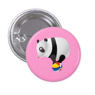 Cute Kawaii Panda on Ball Pinback Button
