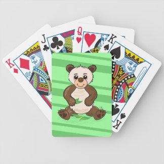 Cute Kawaii Panda playing cards