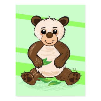 Cute Kawaii Panda postcard