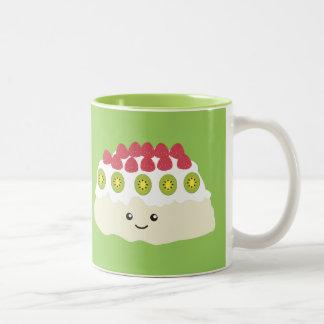 Cute Kawaii Pavlova Two-Tone Coffee Mug
