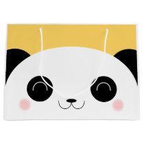 Cute Kawaii Peekaboo Panda Face Large Gift Bag