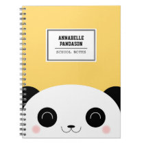 Cute Kawaii Peekaboo Panda Face Personalized Notebook