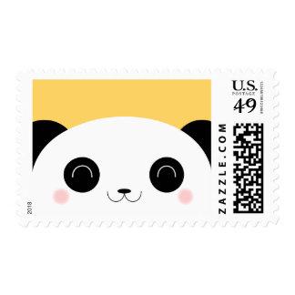 Cute Kawaii Peekaboo Panda Face Postage Stamp