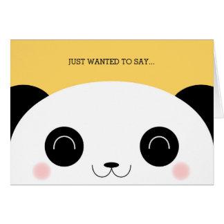 Cute Kawaii Peekaboo Panda Face Thank You Stationery Note Card