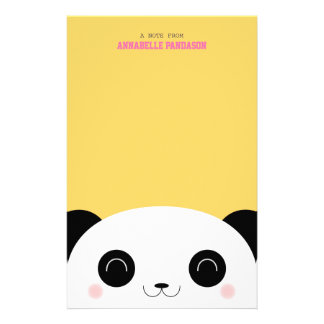 Cute Kawaii Peekaboo Panda Stationery
