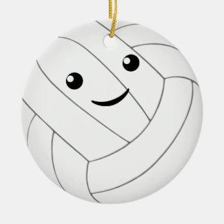 cute kawaii personalized girls volleyball ceramic ornament